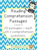 Reading Comprehension Passages - Level 2