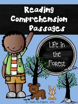 Reading Comprehension Passages:  Life in the Forest (Kinde