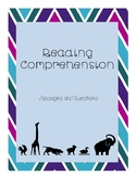 Reading Comprehension Passages (Lion and Giraffe)