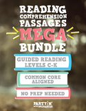 Reading Comprehension Passages MEGA Bundle: Guided Reading Levels C-K
