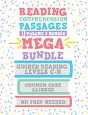 Reading Comprehension Passages MEGA Bundle: Guided Reading Levels C-N Volume 2