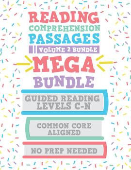 Reading Comprehension Passages MEGA Bundle: Guided Reading