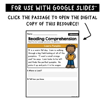 Reading Comprehension Passages - Making Inferences [Little Readers]