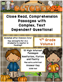 October 4th (V.1) Common Core Close Read w/ Complex Text D