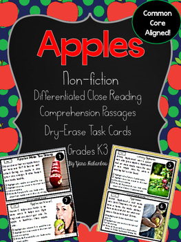 Apples and Johnny Appleseed Nonfiction Reading Passages