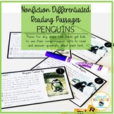 Nonfiction Leveled Reading Passages and Questions - Penguins