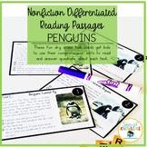 Nonfiction Leveled Reading Passages and Questions - Penguins