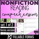 Reading Comprehension Passages {Nonfiction Set 1/2} Inform