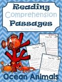 Reading Comprehension Passages and Questions ~ Ocean Animals {Nonfiction}