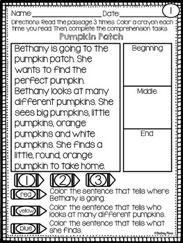 October Reading Comprehension Passages
