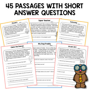 Reading Comprehension Passages (Second Grade) by The ...