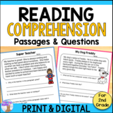 Reading Comprehension Passages and Questions - 2nd Grade P
