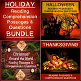 Reading Comprehension Passages & Questions Holiday Bundle