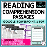 Reading Comprehension Passages and Questions Literacy 5th