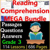 Reading Comprehension Passages & Questions   MEGA Bundle   Grade 3