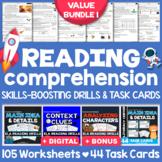 Reading Comprehension Passages, Questions & Task Cards: Skills-Boosting Bundle
