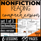 Reading Comprehension Passages & Questions: Technology {No