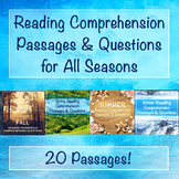 Reading Comprehension Passages & Questions for all Seasons Bundle