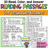 Reading Comprehension Passages - Read, Color & Answer {Set