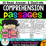 Reading Comprehension Passages - Read, Color & Illustrate