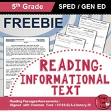 Reading Comprehension Passages - Reading Informational Tex