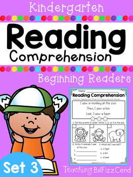 Kindergarten Reading Comprehension (SET 3)