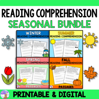 Reading Comprehension Seasonal Bundle