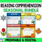 Reading Comprehension Passages Seasonal Bundle