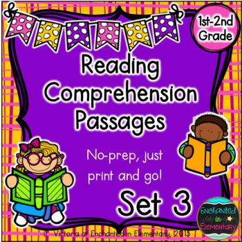 Reading Comprehension Passages- Set 3