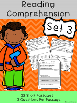 Reading Comprehension Passages - Set 3