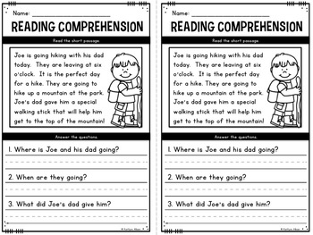 Reading Comprehension Passages - Spring Minis