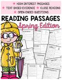 Spring Comprehension | 2nd Grade Comprehension Passages |Text-Based Evidence