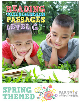 Reading Comprehension Passages Spring Themed: Guided Reading Level G