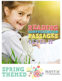 Reading Comprehension Passages Spring Themed: Guided Reading Level H