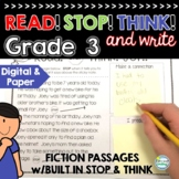 Reading Comprehension Passages and Questions 3rd Grade with Stop and Think
