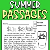 Summer Fun Reading Comprehension Passages for Second Graders