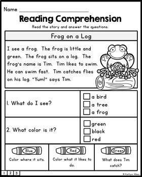 Reading Comprehension Text Evidence Practice Passages