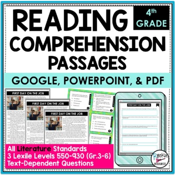 Reading Comprehension Passages and Questions Literacy Text Dependent Analysis