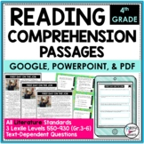 Reading Comprehension Passages and Questions Literacy 4th