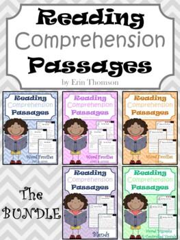 Reading Comprehension Passages ~ The Bundle