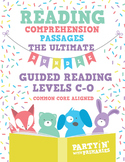Reading Comprehension Passages: ULTIMATE BUNDLE GR Level C-O - Distance Learning