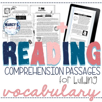 VOCABULARY Context Clues Test Prep Reading Passages 4th