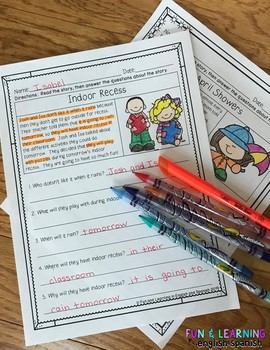 Reading Comprehension Passages & Questions - 2nd Edition {GROWING BUNDLE}