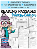 Winter Comprehension Passages | Text-Based Evidence | 2nd Grade Reading Comp