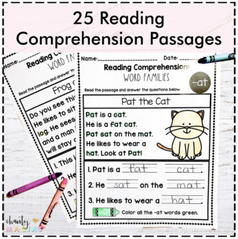 Distance Learning - Reading Comprehension Word Families