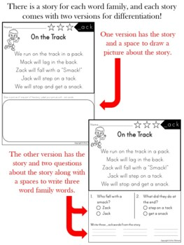 Reading Comprehension Passages and Questions ~ Word Families {CVCC and CCVCC}