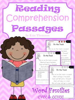 Reading Comprehension Passages ~ Word Families {CVCC and CCVCC}