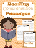 Reading Comprehension Passages ~ Word Families {CVCe and CCVCe}