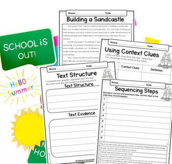 Reading Comprehension Passages and Activities 4th and 5th Grade {Just Print}