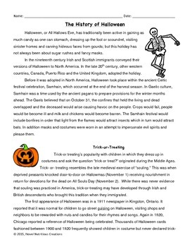 October 6th (Vol.1) Close Read Passages with Text Dependent Complex Questions